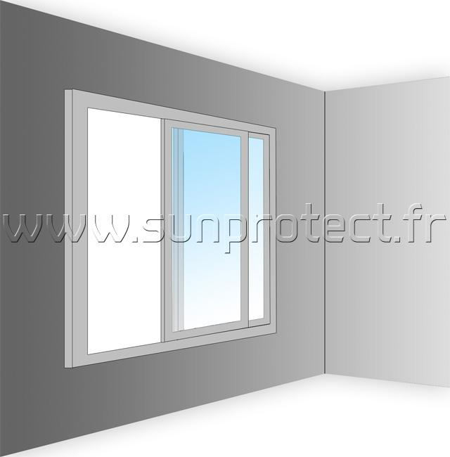 store occultant fenetre avec guidage perfect auralum cm. Black Bedroom Furniture Sets. Home Design Ideas