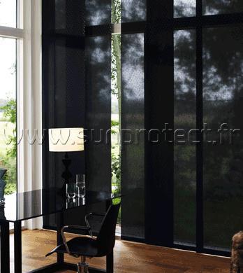 Panneaux japonais sun protect optimisation de vitrage for Panneau japonais bois coulissant